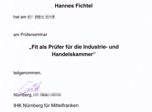 Prüferseminar der IHK Nürnberg (Ausbildungsberufe)