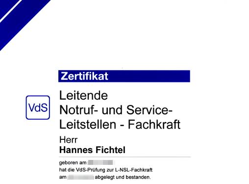 Leitende NSL-Fachkraft (VdS)